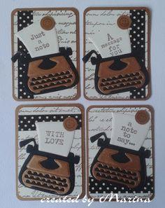 creaties van Marina: ATC kaartjes