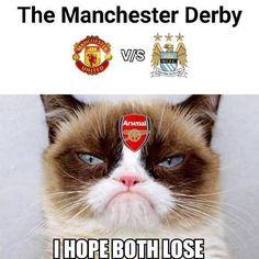 Wszyscy fani Arsenalu Londyn chcieliby porażki obu drużyn w derbach Manchesteru • Śmieszna reakcja kibiców Kanonierów • Zobacz >> #arsenal #football #soccer #sports #pilkanozna