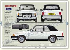 XR3i Cabriolet 1983-86 classic car portrait