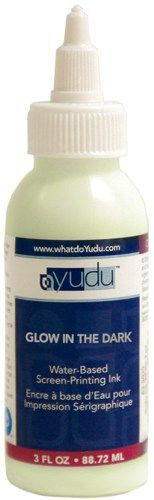 Yudu Screen Printing Ink 3 Ounces-Glow In The Dark   SongbirdCrafts - Paint  More on ArtFire