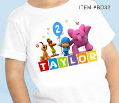 Pocoyo Birthday personalized tshirt shirt by maryahdesigns on Etsy, $12.00