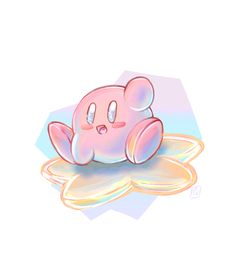 "poes-art: ""I love my new kirby amiibo !!!!°˖ ✧◝( 。╹▿╹。 )◜✧˖ ° (more art/other sites)///twitter (do not delete caption/do not repost/do not use) """