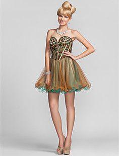 Ball Gown Sweetheart Short/Mini Chiffon Cocktail Dress – USD $ 179.99