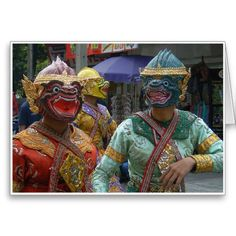 Khon Masks - Khon masks comprise part of the costume of performers of the…