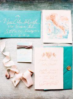 Italian elopement wedding invitations | Photo by Jen Wojcik Photography | Read more - http://www.100layercake.com/blog/?p=78691 #wedding #elegant #invites