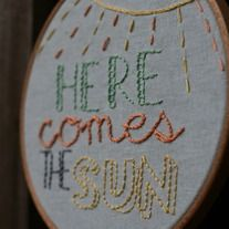 Cute use of embriodery hoops  idea=songs in words &/or images