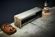 Oak and concrete