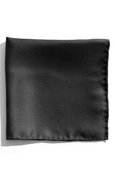 $19, Black Pocket Square: Nordstrom Silk Twill Pocket Square Black One Size. Sold by Nordstrom. Click for more info: https://lookastic.com/men/shop_items/99482/redirect