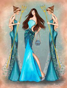 Daughters of Poseidon Fashion Collection 2 by BasakTinli on DeviantArt