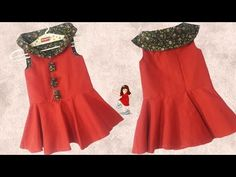 Diy Designer Peplum Top // cutting and stitching full tutorial // by simple cutting Baby Frock Pattern, Frock Patterns, Baby Girl Dress Patterns, Baby Girl Frocks, Frocks For Girls, Kids Frocks, Little Girl Pageant Dresses, Toddler Girl Dresses, Baby Girl Frock Design