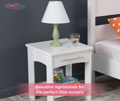 Addison Twin Side Table - White - Kidkraft KidKraft Addison Toddler Side Table is a simple complement to any kid's room. This table is sized to accompany toddler beds. With a gliding storage drawer, it's perfect for keeping books, glasses o Cheap Furniture, Kids Furniture, Bedroom Furniture, Furniture Layout, Office Furniture, Toddler Table, Toddler Girl, White Nightstand, White Side Tables