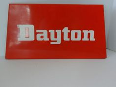 Dayton Tire Sign, Metal Tire Sign, Advertising Collectible Sign, Small Vtg Sign #Dayton
