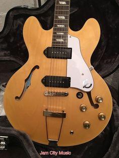 #Epiphone Inspired by #JohnLennon #Casino Hollowbody Electric Guitar Hard Case | eBay #JCM #JAMCITYMUSIC