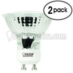Feit Electric Xenon 50w GU10 MR16 120-Volt Bulb, 2 Pack $7.96