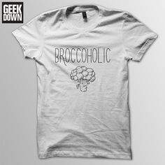 Broccoholic *Vegan* t-shirt tee // vegan t-shirts / vegan clothing / vegan shirt / vegetarian / animal rights / herbivore