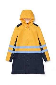 Women's Stripe Coat Yellow Multi