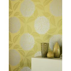 Buy Sanderson Wallpaper, Ceres Lime from our Wallpaper range at John Lewis & Partners. Clock Wallpaper, Dandelion Clock, Floor Ceiling, Green Backgrounds, Accessories Shop, Lime, Tapestry, Flooring, Stuff To Buy