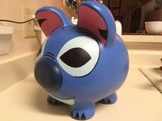 Lilo & Stitch Hand Painted Stitch Ceramic Piggy by KaleyCrafts Lilo Stitch, Little Kitty, My Little Pony, Easy Crafts, Crafts For Kids, Pig Bank, Personalized Piggy Bank, Color Me Mine, Pottery Painting
