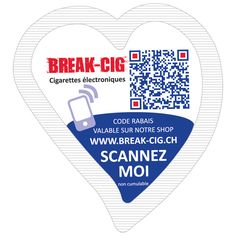 Publizucker - sachets de sucre publicitaires en forme de cœur break-cig