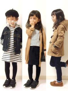 Children and Young Kids Fashion Blog, Kids Winter Fashion, Toddler Fashion, Toddler Outfits, Kids Outfits, Japan Fashion, Kawaii Fashion, Cute Fashion, Fashion Hair