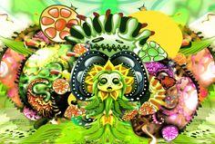 ChibchaStudio - Digital Arts Digital Art, Wreaths, Colour, Halloween, Design, Home Decor, Color, Decoration Home, Door Wreaths
