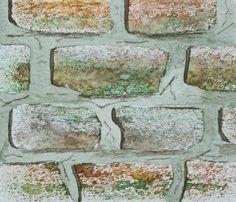 Fenfolio❀: Tutorial brick texture in watercolour