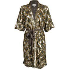 Ganni - Broadway Glitter paillet kimono kjole - YouHeShe