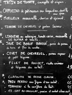 French Menu in Paris by Photophile on Creative Market