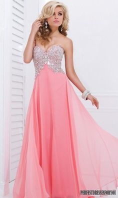 Long pink prom dress dress pink pretty elegant beads prom sparkle sequins formal flowing