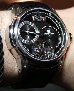 Antoine Martin Tourbillon Quantieme Perpetual Watch Hands On   antoine martin