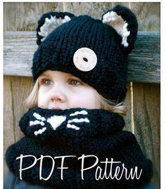 1c693ac6718 Knitting PATTERN-The Caitlynn Cat Set (Toddler
