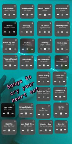 Heartbreak Songs, Breakup Songs, Music Mood, Mood Songs, Music Lyrics, Music Songs, Beste Songs, Playlist Names Ideas, Depressing Songs