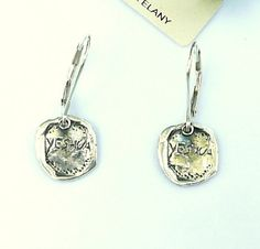 YESHUA / SALVATION Earrings sterling silver by HedvaElanyJewelry, $35.00
