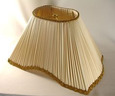 Lamp Shade Custom Pleated Ivory Silk Hand Made NY