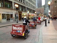 #spotted: the boloco rickshaws! it's officially springtime!
