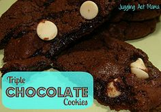 Triple Chocolate Cookies from Juggling Act Mama - decadent, sinful and oh-so scrumptious! Easy to make ahead and freeze, too. http://jugglingactmama.blogspot.com