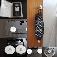 Ideas For Reusing an Outdated Collection of VHS and Audio Tapes | Apartment Therapy