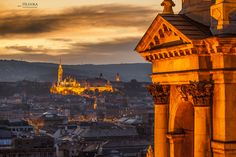 Budapest, Castle Hill from to top of the St. Stephen Cathedral by Hlinka Zsolt