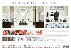 Peta's Fake Leather Store In Thailand Shows Reality of The Exotic SkinsTradeShoppers were left shocked when confronted with the reality of the exotic skin trade after an animal rights group set up a pop-up leather shop with accessories filled with fake… Skin Trade, Leather Store, Creative Advertising, Experiential, Animal Rights, Custom Labels, Cannes, Fashion Boutique, Logo Design
