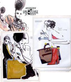 raw minimalistic {fashion art by Petra Lunenburg}