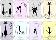 Cartonnettes Chats stylisés !