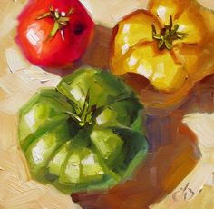 TOMATO PAINTING and PUZZLE BY TOM BROWN, painting by artist Tom Brown