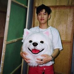 Crush as his dog Doyou🐶 Hip Hop Singers, Dpr Live, Cool Kidz, Solo Male, R&b Artists, Eric Nam, Soft Heart, Hip Hop And R&b, Your Crush