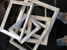 TONS of ideas for using frames! Love these!
