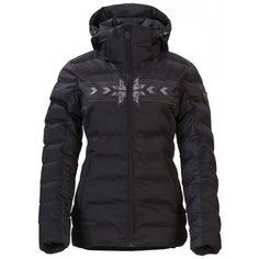 De Alberta #winterjas voor dames is uitgerust met een afneembare capuchon, een sneeuwvanger en voldoende zakken. Ideale #jas van #Falcon voor tijdens de wintersport.