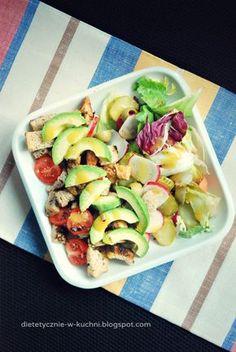 Moje Dietetyczne Fanaberie: Sałatka z kurczakiem i awokado Mango, Sprouts, Potato Salad, Food And Drink, Gluten, Potatoes, Vegetables, Ethnic Recipes, Blog