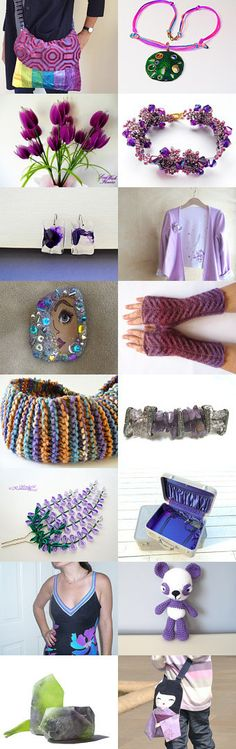 Wednesday: Purple Plus by Christine Delea on Etsy--Pinned with TreasuryPin.com