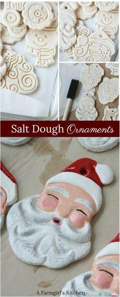 Handmade Salt Dough Ornaments