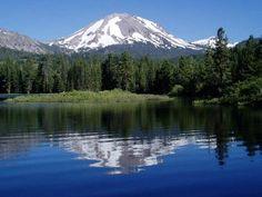 I'm lucky enough to live near two volcanoes! This is Mt. Lassen, about 40 miles to the east.     http://www.heartlights.org/Mt.Lassen.jpg