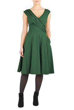 cffd54b82b8 I  lt 3 this Draped front cotton knit dress from eShakti Fashion Outfits